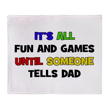 Fun & Games - Dad Throw Blanket