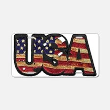 USA Patch Aluminum License Plate