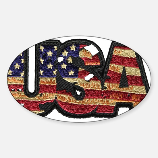 USA Patch Decal