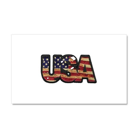 USA Patch Car Magnet 20 x 12