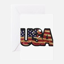 USA Patch Greeting Card