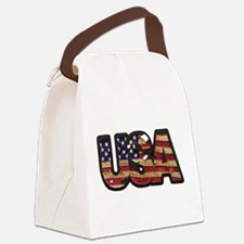USA Patch Canvas Lunch Bag