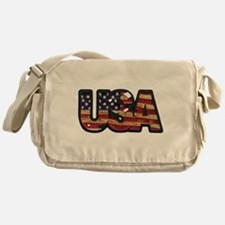 USA Patch Messenger Bag