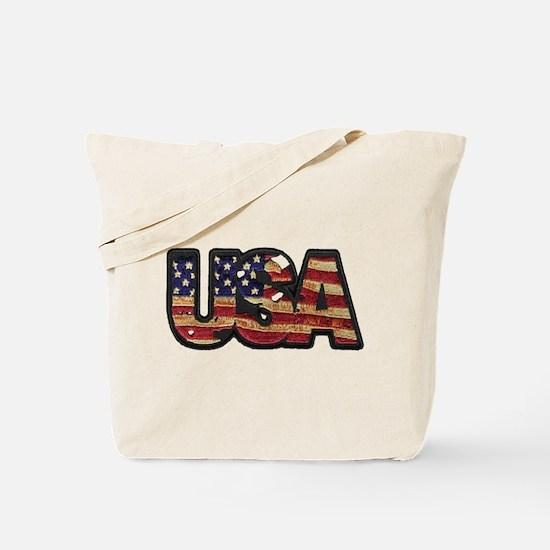 USA Patch Tote Bag