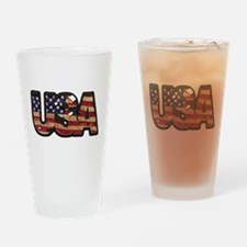 USA Patch Drinking Glass