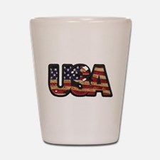 USA Patch Shot Glass
