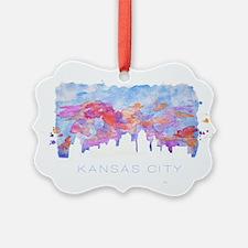 Kansas City Skyline Watercolor Ornament