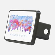 Kansas City Skyline Watercolor Hitch Cover