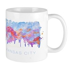 Kansas City Skyline Watercolor Mug
