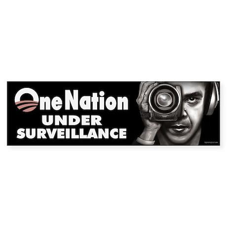 One Nation Under Surveillance Sticker (Bumper)