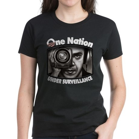 One Nation Under Surveillance Women's Dark T-Shirt