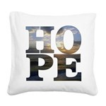 Hope Square Canvas Pillow