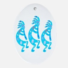 Lizard Kokopelli Ornament (Oval)
