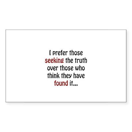 Seek the Truth Sticker