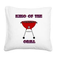 KING OF THE GRILL Square Canvas Pillow