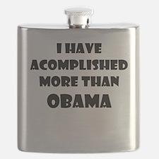 I HAVE ACCOMPLISHED MORE THAN OBAMA Flask