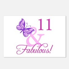 Fabulous 11th Birthday Postcards (Package of 8)