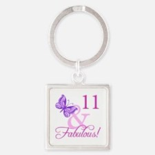 Fabulous 11th Birthday Square Keychain
