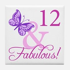 Fabulous 12th Birthday Tile Coaster