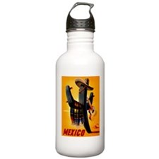 Vintage Mexico Guitar Travel Water Bottle