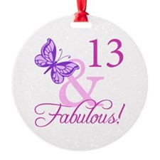 Fabulous 13th Birthday Ornament