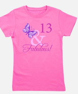 Fabulous 13th Birthday Girl's Tee