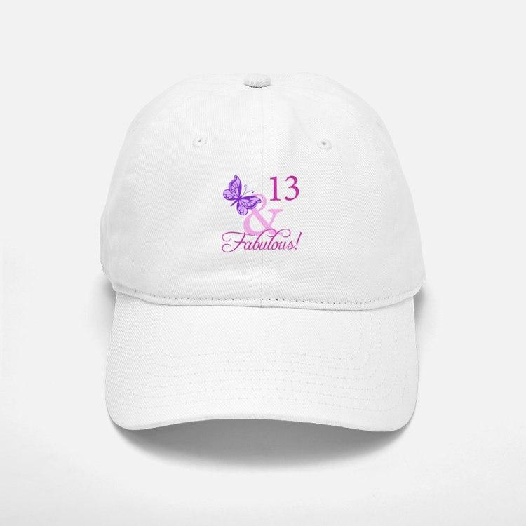 Fabulous 13th Birthday Baseball Baseball Cap