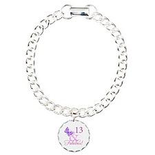 Fabulous 13th Birthday Charm Bracelet, One Charm