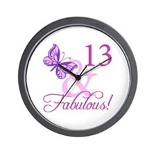 Fabulous 13th Birthday Wall Clock
