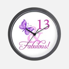 Fabulous 13th Birthday Wall Clock