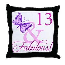 Fabulous 13th Birthday Throw Pillow
