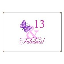 Fabulous 13th Birthday Banner