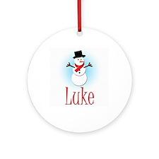 Snowman - Luke Ornament (Round)