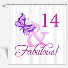 Fabulous 14th Birthday Shower Curtain