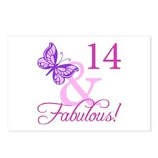 Fabulous 14th Birthday Postcards (Package of 8)
