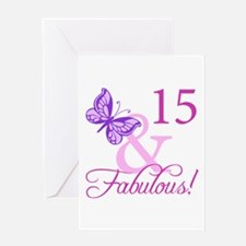 Fabulous 15th Birthday Greeting Card