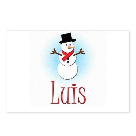 Snowman - Luis Postcards (Package of 8)