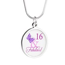Fabulous 16th Birthday Silver Round Necklace