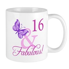 Fabulous 16th Birthday Small Mug