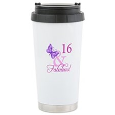 Fabulous 16th Birthday Thermos Mug