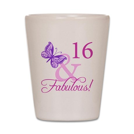 Fabulous 16th Birthday Shot Glass
