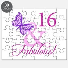 Fabulous 16th Birthday Puzzle