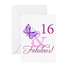 Fabulous 16th Birthday Greeting Card