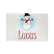 Snowman - Lucas Rectangle Magnet