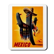 Vintage Mexico Guitar Travel Mousepad