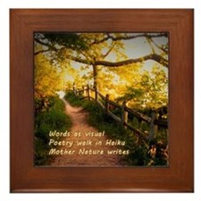 Mother Nature Haiku Framed Tile