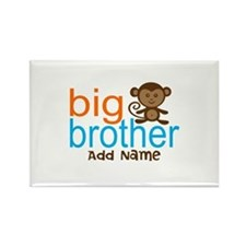 Personalized Monkey Big Brother Rectangle Magnet