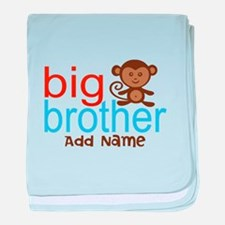 Personalized Monkey Big Brother baby blanket