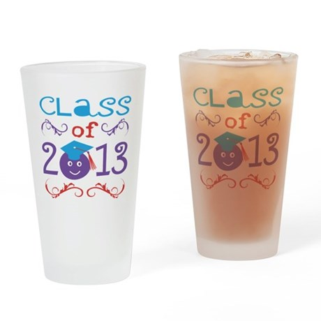 Cute Class of 2013 Drinking Glass