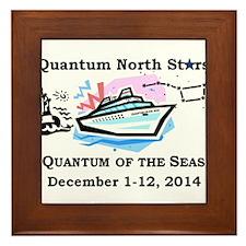 Quantum North Stars - Front of T-Shirt Framed Tile
